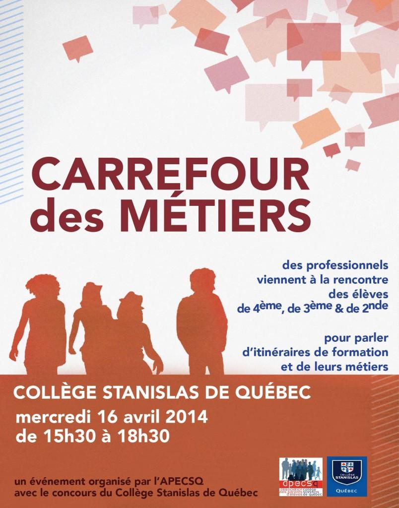 Affiche du Carrefour des Métiers 2014