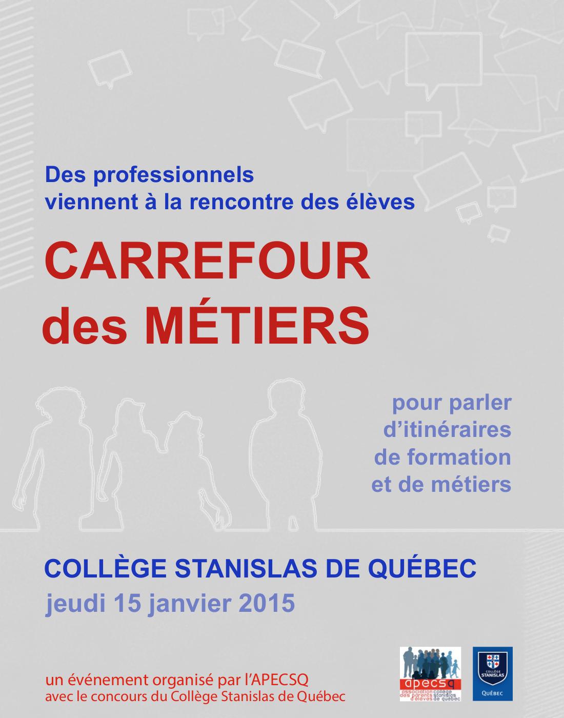 Affiche du Carrefour des Métiers 2015